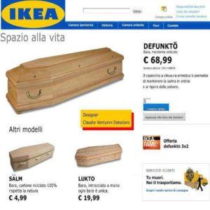 La bara fai da te e il paradosso  dell'Ikea